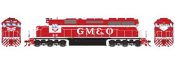 Athearn HO SD40  GM&O 916, DUE 2/28/2018, LIST PRICE $139.98
