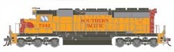 Athearn HO SD40 Snd SP Orng #7342, LIST PRICE $199.98