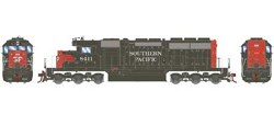 Athearn HO SD40  SP - Nose SP Snd 8411, LIST PRICE $199.98