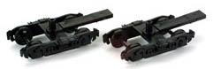 Athearn HO TRUCK_4 WHEEL PASS_BLACK (2), LIST PRICE $6.98