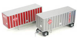 Athearn HO 2-28' Trail. w/ Dolly_ McLean, LIST PRICE $39.98