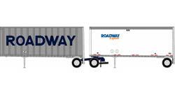 Athearn HO 28ft Trlr 2pk Roadway, LIST PRICE $39.98