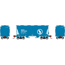 Athearn HO ACF 2970 Cvrd Hpr GN sky blue #173824, DUE 12/30/2020, LIST PRICE $44.98
