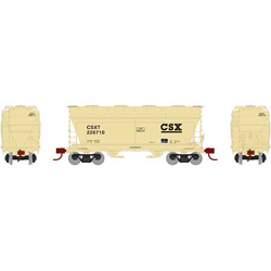 Athearn HO ACF 2970 Cvrd Hpr CSX #226710, DUE 12/30/2020, LIST PRICE $44.98