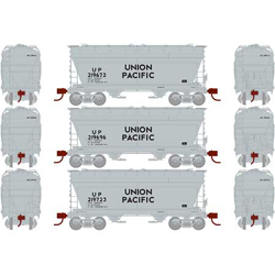 Athearn HO ACF 2970 Cvrd Hpr UP #3pk, DUE 12/30/2020, LIST PRICE $129.98