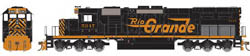 "Athearn HO RTR SD40T-2 w/81"" Nose D&RGW #5347, LIST PRICE $134.98"