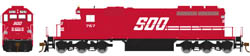 "Athearn HO RTR SD40-2 w/81"" Nose, SOO #761, LIST PRICE $119.98"