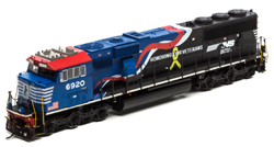 Athearn Genesis HO SD60E Snd NS Honoring Our Veterans #6921, LIST PRICE $339.98