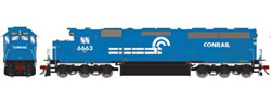Athearn Genesis HO SD45-2 Conrail early #6663, DUE 1/30/2020, LIST PRICE $209.98