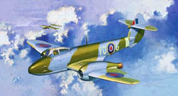 Cyber Hobby Model 1/72 Gloster Meteor F.1, LIST PRICE $31