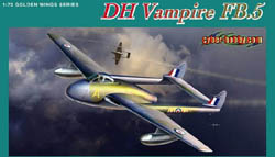 Cyber Hobby Model DH VAMPIRE FB.5 1:72, LIST PRICE $31