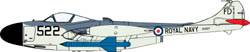Cyber Hobby Model 1/72 Sea venom FAW.21 w/Blue Jay Missle, LIST PRICE $43