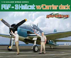 Cyber Hobby Model F6F-3 HELLCAT W/flight Deck:72, LIST PRICE $42.5