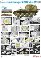 Cyber Hobby Model Sd.Kfz.138/1 MUNITIONSWAGEN:35, LIST PRICE $60.95
