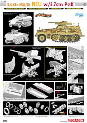 Cyber Hobby Model Sd.Kfz.250/10 NEU W/3.7cm Pak, LIST PRICE $67