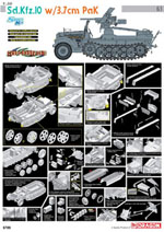 Cyber Hobby Model Sd.Kfz.10 W/3.7Cm Pak 1:35, LIST PRICE $71