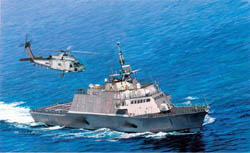 Cyber Hobby Model USS Freedom Lcs-1 Smart kit :700, LIST PRICE $30
