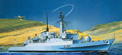Cyber Hobby Model 1/700 HMS Antelope Type 21 Frigate, Falklands War, LIST PRICE $35