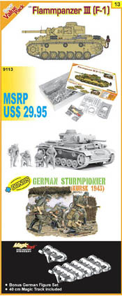 Cyber Hobby Model FLAMMPANZER III 1:35, LIST PRICE $47.95
