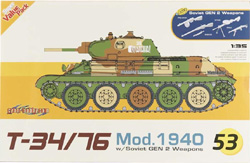 Cyber Hobby Model T-34/76 Mod.1940 & Inf 1:35, LIST PRICE $51.79