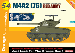 Cyber Hobby Model M4A2 Red Army & Maxim Mg 1:35, LIST PRICE $51.95