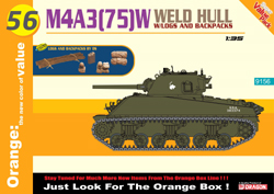 Cyber Hobby Model M4A3(75)W Welded Hull 1:35, LIST PRICE $56.75