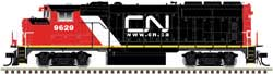 Atlas HO GP40-2(W) Silver Canadian National #9629, DUE 1/1/2018, LIST PRICE $169.95