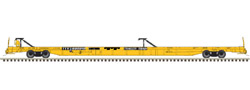 Atlas HO F89J 89ft Flat w/2 Hitches TTX 600947 1970s Yell, DUE 12/30/2020, LIST PRICE $56.95