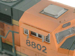 Atlas N Modern EMD Cab Sunshade pkg 4 , DUE 11/5/9999, LIST PRICE $3.75