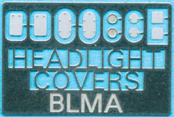 Atlas N Remvd Headlight Covers Etched-Metal Kit 2 Ea of 5 Styles, DUE 11/10/9999, LIST PRICE $4.95
