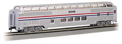 Bachmann HO RTR SS 85' Budd Full Dome/Lighted, Amtrak/PhII, LIST PRICE $69