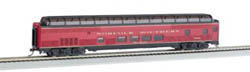 Bachmann HO 85' Budd Full Dome/Lighted, NS, LIST PRICE $59