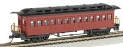 Bachmann HO 1860-1880 Coach, Red, LIST PRICE $32