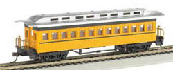 Bachmann HO 1860-1880 Coach, Yellow, LIST PRICE $32