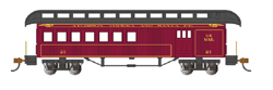Bachmann HO O-T Pass Rnd End Clerestory Roof Combine SF, DUE TBA, LIST PRICE $37