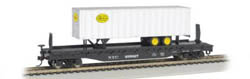 "Bachmann HO 52' 6"" Flat w/ 35' Trailer, NYC, LIST PRICE $51"