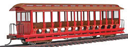 Bachmann HO RTR Open Excursion Car, Unlettered/Red & Silver, LIST PRICE $57