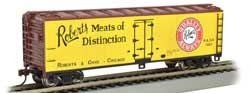 Bachmann HO 40' Wood Side Reefer Roberts Meat of Distinction, LIST PRICE $36