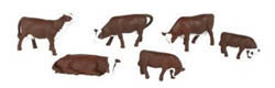 Bachmann HO Cows, Brown & White, LIST PRICE $13.5