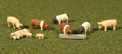 Bachmann HO Pigs (9Pcs/Pk) , LIST PRICE $13.5