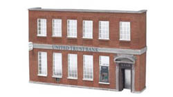 Bachmann HO Building Front, United Trust Bank, LIST PRICE $60