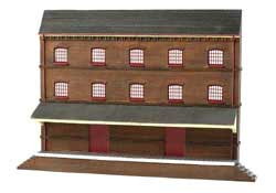 Bachmann HO Building Front, Three-Story Warehouse, LIST PRICE $71