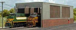 Bachmann HO Double Stall Shed, LIST PRICE $199