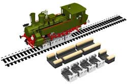 Bachmann HO Rollers & Drive Wheel Cleaners (4 Rollers & 4 Cleaners), LIST PRICE $105