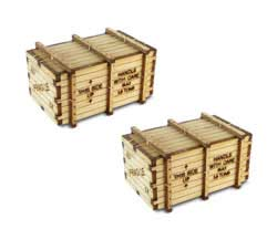 Bachmann HO 72' HW Coach MACHINERY CRATES (2/pk), LIST PRICE $16