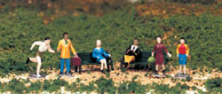 Bachmann HO People At Leisure, LIST PRICE $12.5