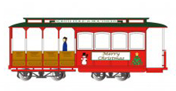 Bachmann HO Cable Car w/fig Xmas, DUE TBA, LIST PRICE $109