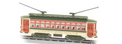 Bachmann N RTR Brill Trolley, Christmas, LIST PRICE $69