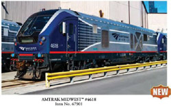 Bachmann HO Charger SC-44 Snd AMTRAK Midwest #4618, DUE TBA, LIST PRICE $459