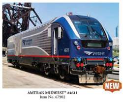 Bachmann HO Charger SC-44 Snd AMTRAK Midwest #4611, DUE TBA, LIST PRICE $459